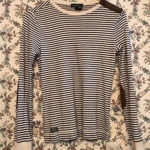 Long sleeved Ralph Loren striped shirt